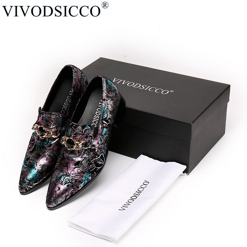 VIVODSICCO Fashion Genuine Leather Men Oxford Shoes Business Men Shoes, Brand Men Wedding Shoes, Men Dress Shoes Zapatos Hombre klywoo brand new simple style men dress shoes leather breathable lace up oxford shoes for men fashion oxford zapatos hombre