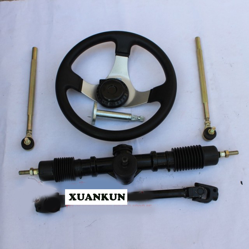 XUANKUN Karting Four Rounds Of Beach Car Motorcycle Modified Parts Modified Steering Wheel Direction Machine Universal Joint Rod one direction four