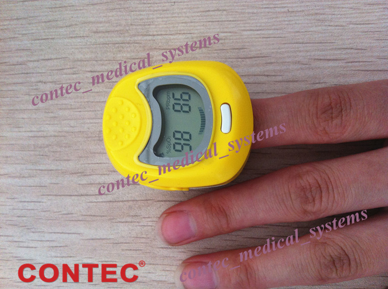 CMS50QA LED Display Yellow Portable Handheld Pediatric Fingertip Pulse Oximeter, Blood Oxygen Monitor cms50qb color display yellow portable handheld pediatric fingertip spo2 pulse rate pulse oximeter