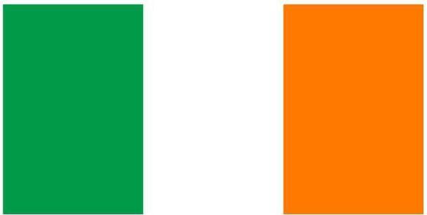 Darmowa wysyłka Flaga Irlandii Flaga Irlandii 3 * 5 stóp. flaga poliestrowa. 90 * 150 cm sztandar flagowy