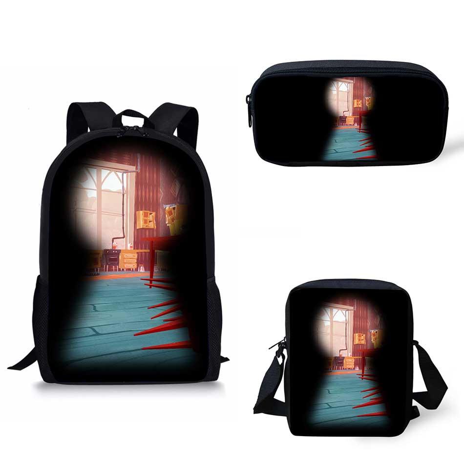 7540999d3b Noisydesigns hello neighbor School Bags Print School Backpack for Girls  Boys Orthopedic Schoolbag Backpacks Children Book