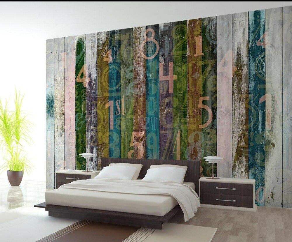3d wallpaper european minimalist bedroom living room tv for Digital mural wallpaper