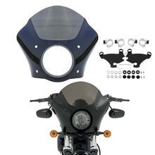 Gauntlet Fairing W/ Bracket Mounting Kit Fit For Harley Sportster XL 1200 883 1988-2018 Black цены онлайн