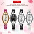 VILAM овальный Кварцевые Часы Женщины Повседневная Наручные Часы Relogio Feminino Красочный Пу Кожа Алмаз Золотые Часы металла Дизайнеры Смотреть