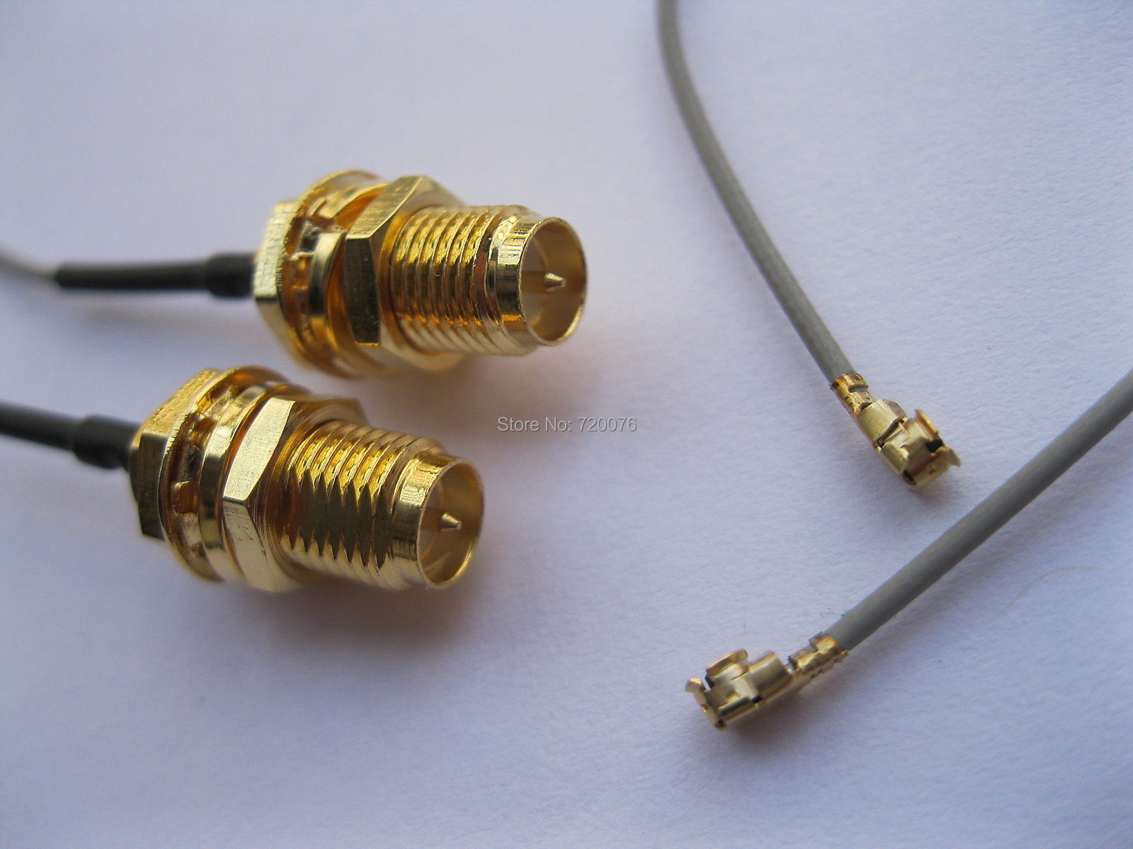 200 pcs RP-SMA Male Pin Connector to IPX U.FL 1.13 Antenna WiFi Cable 120mm freeshipping zigbee cc2530 module pcb antenna sma