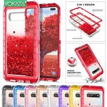 Роскошный Жесткий чехол для samsung Galaxy S9, S8, S10, Note8, Note10 Plus, S10e, S7 edge, чехол, блестящий, противоударный, зыбучий песок, чехол, capa