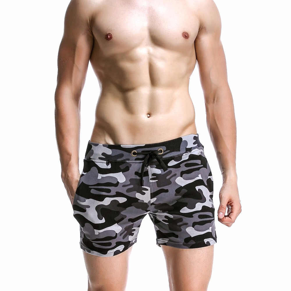 New Fashion Cotton Men\'s Jogger Short Leisure Workout Short With Pocket Casual Camouflage Elastic Waist Home Lounge Shorts PF73 (4)