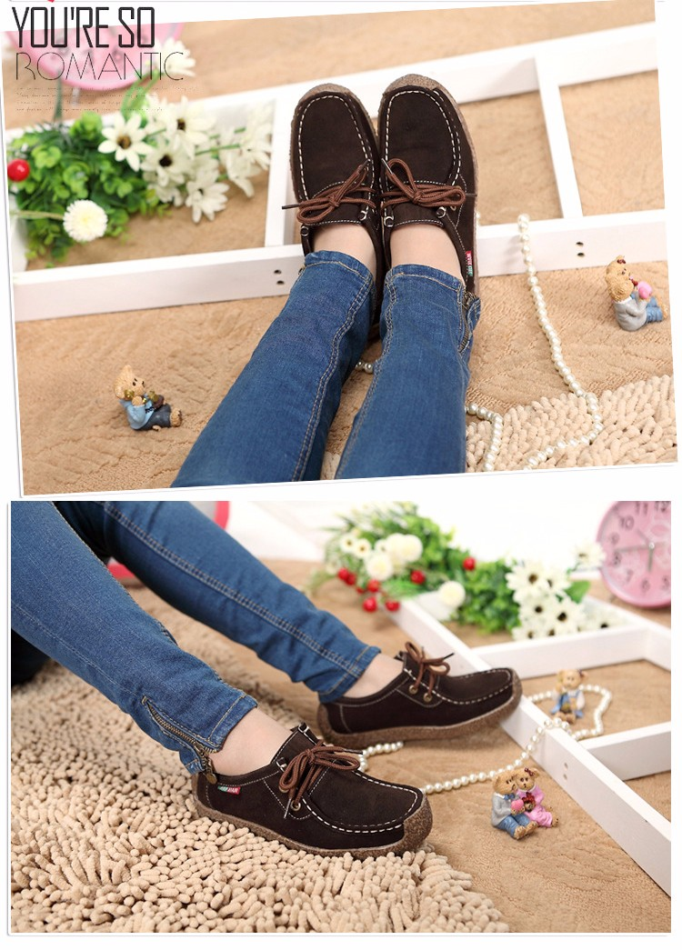 Hot Sale 2016 Winter Warm Women Flats Leisure Solid Comfortable Women Casual Shoes New Fashion Wild Lace-up Ladies Shoes SDT90 (2)