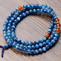 Quality Cat'S Eye Kyanite Mutil Beads Blue Transparent Stone Bracelet Creative Gift Free Shipping