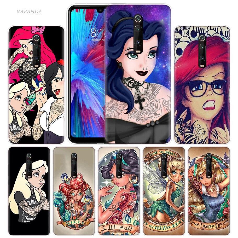 Tattooed Princess Ariel Case For Xiaomi Redmi Note 8 8T 9S 7 9 Pro 7A K30 Zoom MI 10 5G CC9 9T 9T A3 Poco X2 F2 Phone Bags