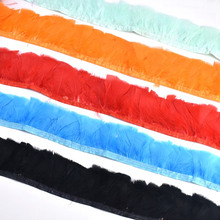 wholesale Crafts natural Turkey Feathers Trimming Fringe party decorations 6-8cm Width DIY  Carnival Clothing plumas Accessories