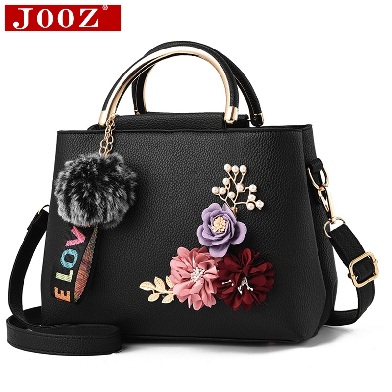 JOOZ 2018 color flowers shell Women's tote Leather Clutch Bag small Ladies Handbags Brand Women Messenger Bags Sac A Main Femme