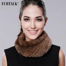 FURTALK Winter Women Mink Fur Headband Mink Fur Hat for Women