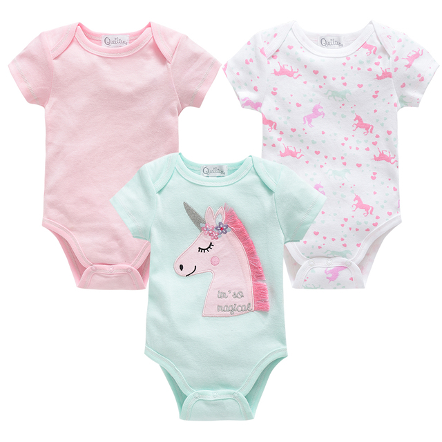 2020 3 sztuk/partia Boys Baby body z krótkim rękawem letnie dziewczyny ubrania ciała bebe 0-12 miesięcy noworodka chłopiec dziewczyna odzież