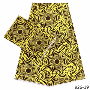Image 5 - Hot Sale African Wax Prints Fabric Silk Satin Chiffon Fabric 4+2 Yards African Ankara Fabric Prints Audel Fabric 926