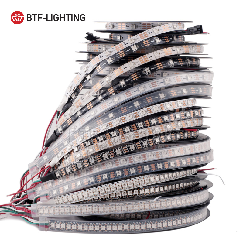 1m/4m/5m WS2812B 30/60/74/96/100/144 pixels/leds/m Smart led pixel strip,Black/White PCB,WS2812 IC;WS2812B/M,IP30/IP65/IP67 DC5V freeshipping 1m 74 96 100led m ws2812b led strip 2812 pixel ip30 65 67 white black pcb smd 5050 addressable full color 5v