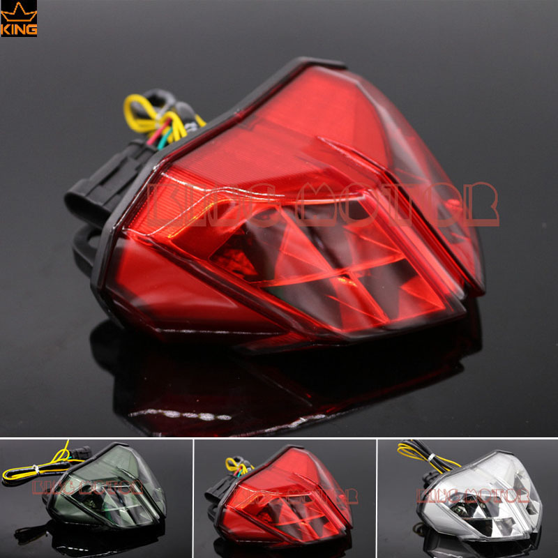 For DUCATI Streetfighter 848 1100 2012 2014 Motorcycle Integrated LED Tail Light Turn signal Blinker Red