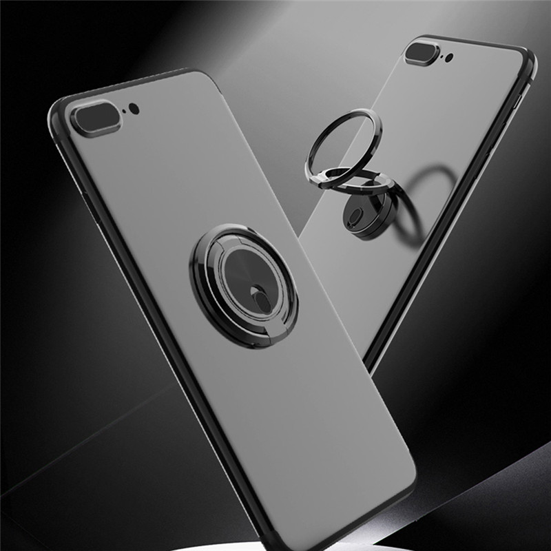 Cell Phone Ring Holder Metal Universal Magnet Mobile Phone Holder Stand Phone Ring Grip Compatible with Smartphones Tablets Black