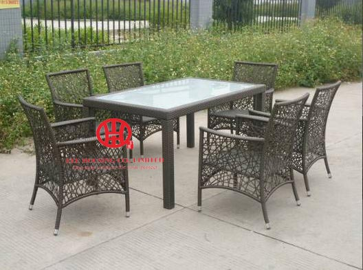 outdoor stylish rattan Kitchen and dining room furniture bridge table and chairs, ,dining room set, Garden Table And Chair