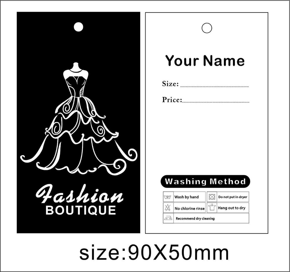 Lady dress hang tags free design free shipping wedding dress