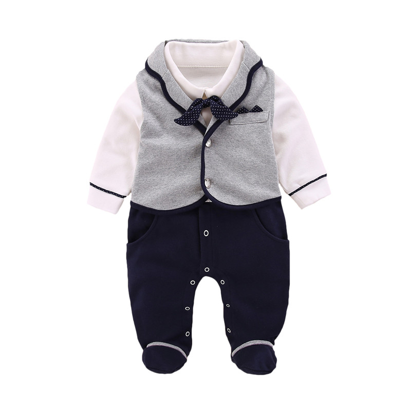 Cotton Baby Boy   Romper   New Born Baby Clothes Autumn Winter Overalls for Children New Year 3 6 9 Months Baby   Rompers   Vests 2Pcs