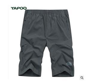 TAPOO shorts men casual pants quicksuit pants men's multi-pocket beach pants in pants pants