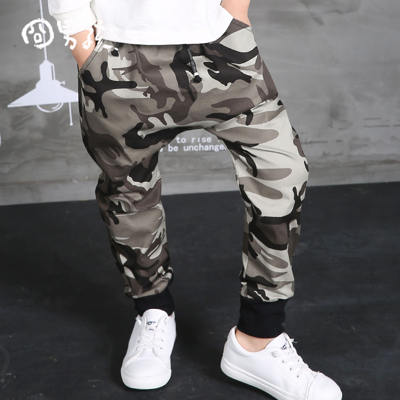 New Children s 2017 Autumn Clothing Hip Hop Dance Harem Black camouflage Leisure Sports Pants kids