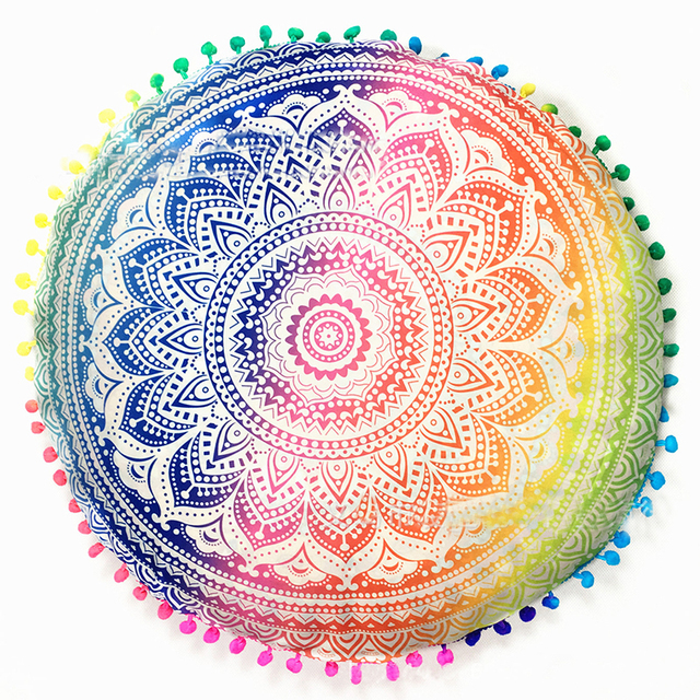 Enipate Indian Mandala Flower Floor Pillow Cover Boho Ethnic ...