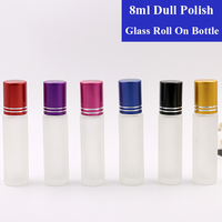 10 20 50pcs 8ml Mini Travel Portable Empty Refillable Frosting Glass Container Roll On Bottle Essential