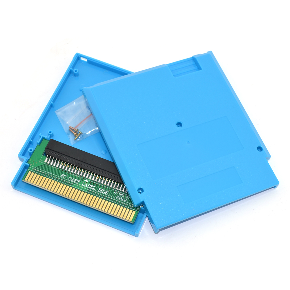 Pour FC 60 broches à NES 72 broches adaptateur convertisseur avec boîtier de cartouche et vis pour NES