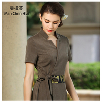 Beautician Summer Workwear Thai Spa Club Foot Technician Costume Beauty Salon Club Workwear Tea Art Workwear Dresses