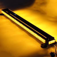 90LED 12V 109x17x7cm Double Side Roof Top Emergency Warning Strobe Flashing Light Bar Waterproof 7 Different Modes of Flashing