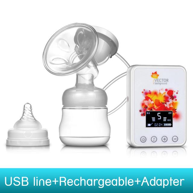 ZIMEITU USB Recargable eléctrica extractores de leche bebé LIBRE de BPA leche Materna Posparto lactancia ventosas Sola 150 ML