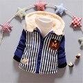 Новый мальчик зимней одежды набор детей малышей С Капюшоном Пуловер зимняя куртка мальчиков Одежда Толстовки дети верхняя одежда