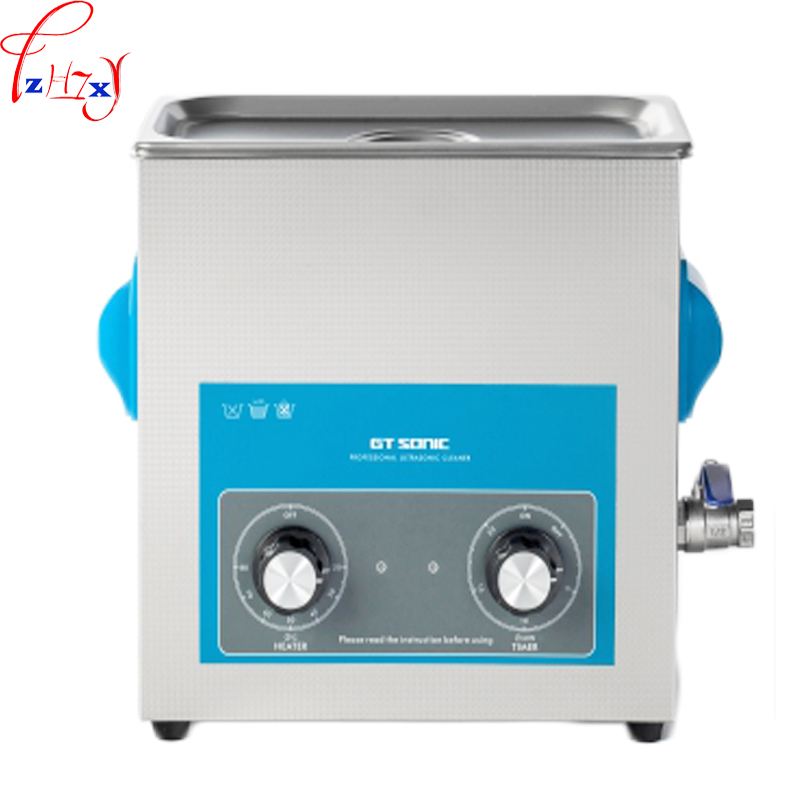 110/220V 1PC 6L ultrasonic cleaning machine VGT 1860QT glasses dental watch automatic heated ultrasonic cleaner