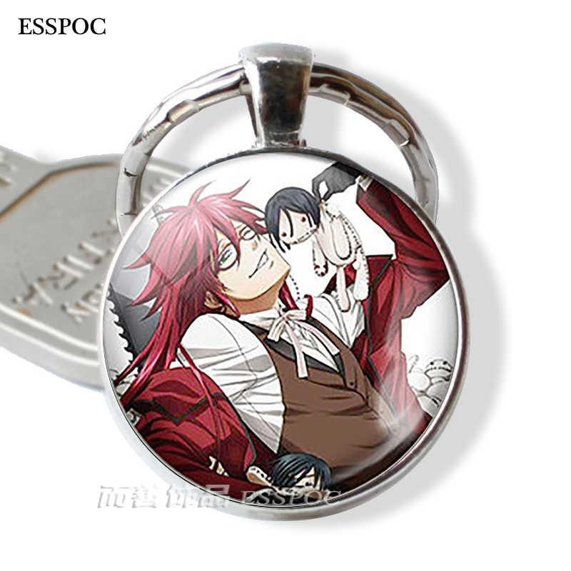 Черный Дворецкий металлический брелок Kuroshitsuji Ciel Phantomhive Sebastian Grell Madame Red Эмблема Аниме Манга брелок для ключей
