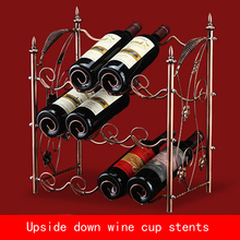 new design retro Electroplate three layers Red wine stents bronze color metal bracket