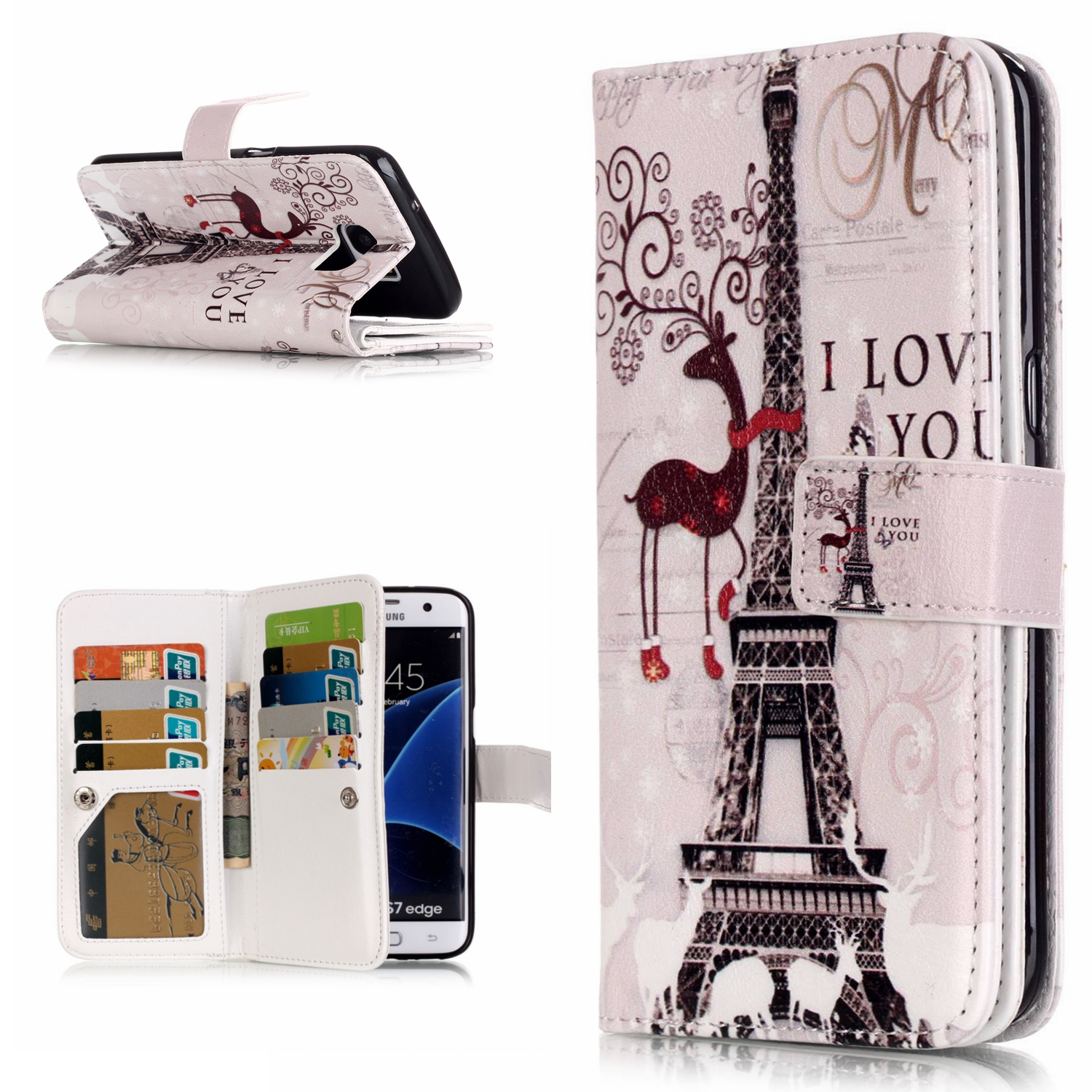 9 Card Holder Wallet Caes For Samsung Galaxy S6 S7 Edge S3 S4 S5 i9060 Note5 Luxury PU Leather Flip Case for Samsung J5 G530 Cas