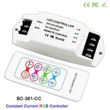 цена BC Led RGB Strip Controller with RF Wireless remote for LED Lamp-361-CC DC12V-48V 350mA 700mA constant current Output онлайн в 2017 году