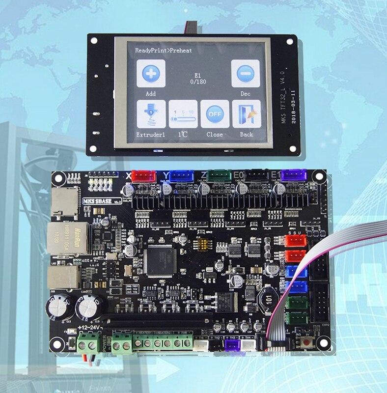 MKS basis 3D drucker 32bit PCB MKS SBASE V1.3 + MKS TFT32 3,2 ''LCD Touch Display
