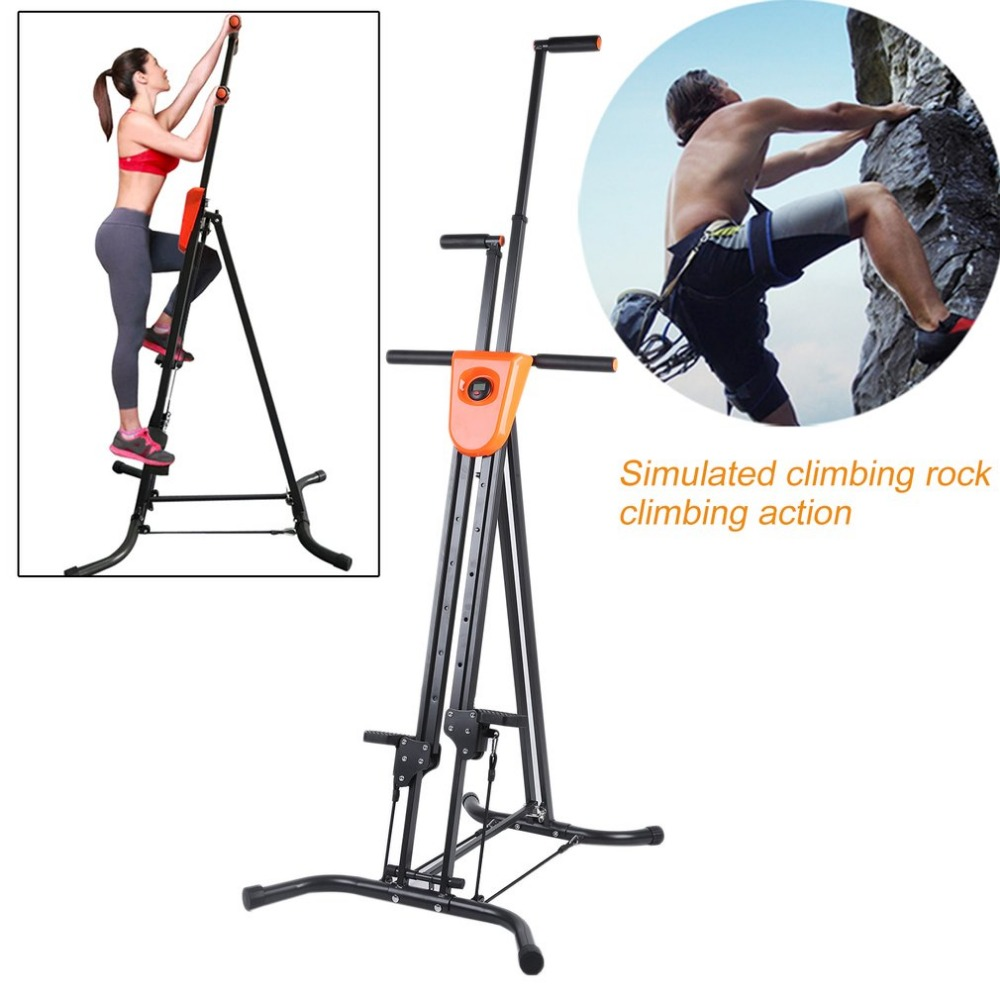 Affichage numérique Pliable Verticale Grimpeur Escalade Machine Exercice D'entraînement Cardio Stepper Fitness Workout Gym Équipement de La Maison