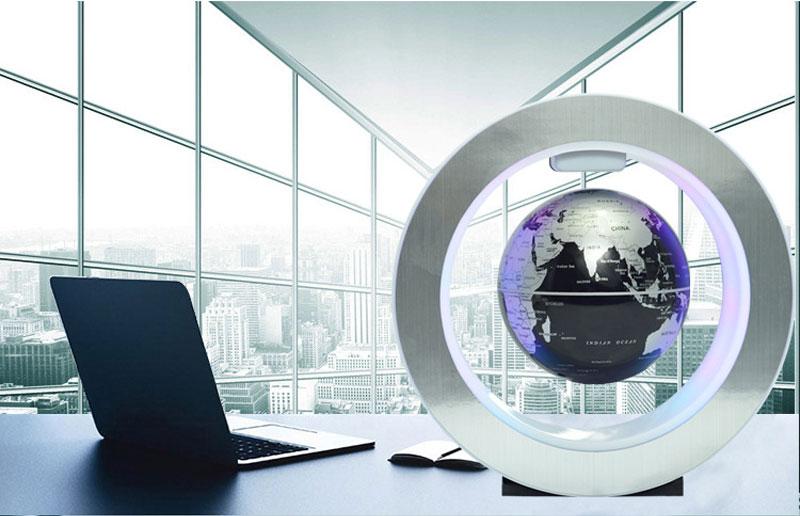 Magnetic Levitation Novelty Round LED World Map Globe Lamp Luminous Rotation Display Antigravity MagicDec Plasma Ball Light (5)