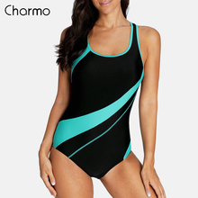 Charmo One Piece Women Sports Swimsuit Swimwear Padded Bikini Backless Beach Wear Bathing Suits Monokini