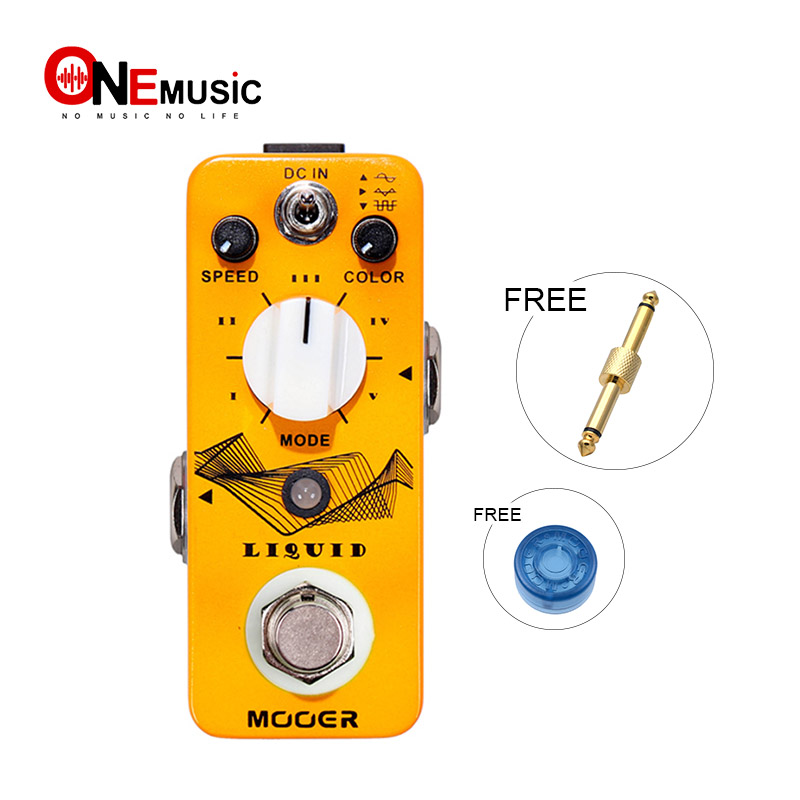 Mooer Micro Pedal Liquid Phaser Digital Phaser Effect Guitar pedal with 5 different Phase Effect types