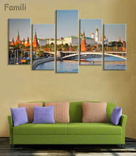 5pcs Wall Art Modular Pictures Moscow Russia Kremlin City Modern Oil Painting On The Wall Pictures For Living Room Hot Cuadros around the kremlin the moscow kremlin its monuments and works of art