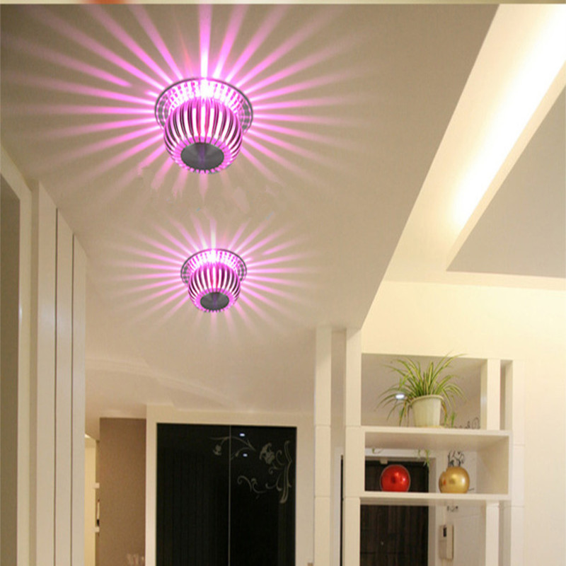 3W RGB LED Ceiling Light ,Embedded Ceiling lamp Scattering Light Design Aluminum For Living Room Foyer Porch home Lighting Decor