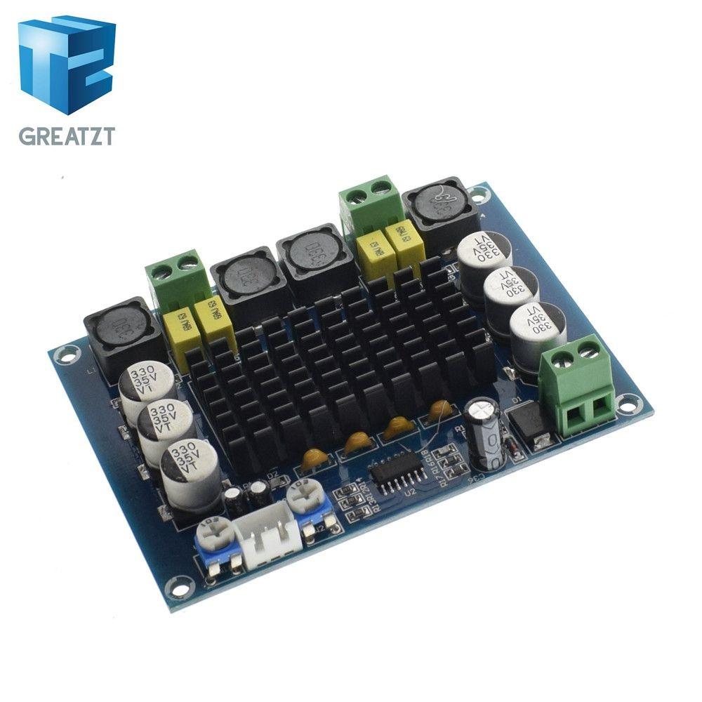 GREATZT 24 V DC 12 V 120 W * 2 TPA3116 D2 digital de doble canal tablero del amplificador audio buena