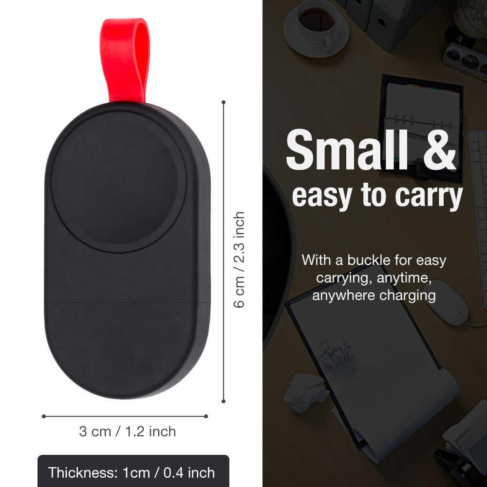 Mini cargador inalámbrico portátil para Apple Watch Series 1 2 3 4 adaptador de base de carga rápida cargador de energía de carga inalámbrica