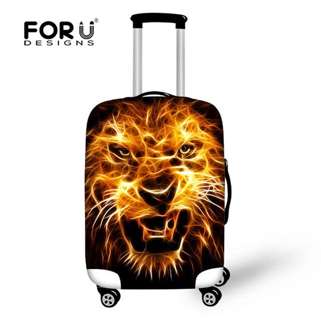 Elegante animal do leopardo capa protetora bagagem elástica à prova d' água 18-30 polegada de viagem de bonde mala capa com zíper varejo