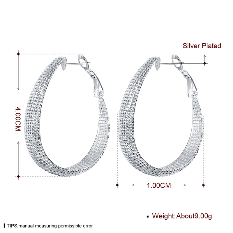 DOTEFFIL New 925 Sterling Silver Earring Women Earrings For Wedding Gift Fine Europe Jewelry Christmas Gift Engagement Party